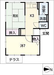 ソファレ幸[1階]の間取り