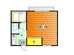 暁21・0号館 (風呂・トイレ別々)[2階]の間取り