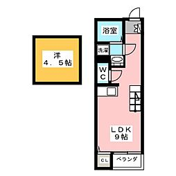 フレクール浄心[2階]の間取り