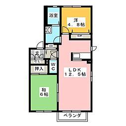 ボナールゴトウ B[2階]の間取り
