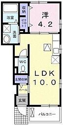 センターウイング[  105号室]の間取り