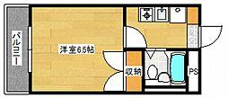 広島県広島市中区舟入幸町の賃貸マンションの間取り