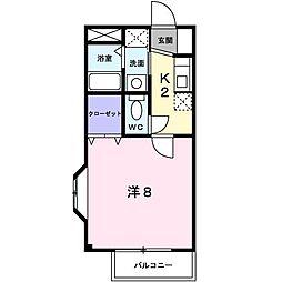 カーサ弐番館[103号室]の間取り