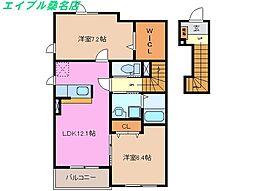 三重県桑名市大字東汰上の賃貸アパートの間取り