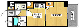 「ライオンズマンション五条大宮第2」[3階]の間取り