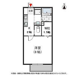 メゾン阪奈 II[202号室号室]の間取り