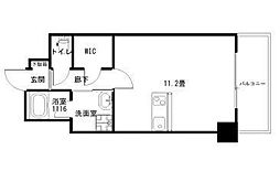 Ko Olina Ukinojo 7階ワンルームの間取り