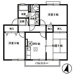 パークタウン新和 A[1階]の間取り