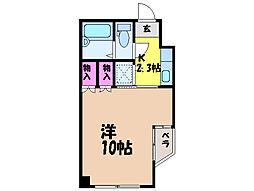 愛媛県松山市祇園町の賃貸マンションの間取り