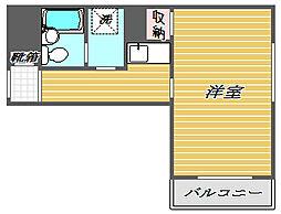 東京都北区滝野川6丁目の賃貸マンションの間取り