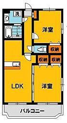 Y&Mファーストステージ 2階2LDKの間取り