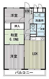大岡小川グリーンタウン[3階]の間取り