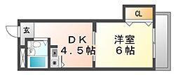 ディアコートつかしん[4階]の間取り