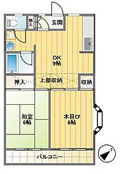 エステート幡ヶ谷[T1号室]の間取り