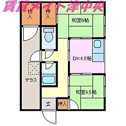 [一戸建] 三重県津市海岸町 の賃貸【/】の間取り