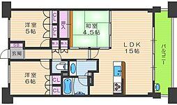 BELISTAタワー福島[21階]の間取り