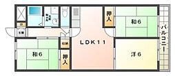 メゾン・モン・ソレイユ[3階]の間取り