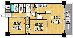 ルミウス88[3階]の間取り