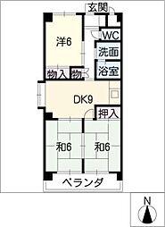 メルベーユ桜木[2階]の間取り