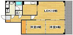 トーカンマンション国分[13階]の間取り
