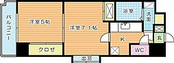 アヴィニールNo.5[7階]の間取り