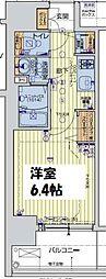 レオンコンフォート阿波座西 6階1Kの間取り