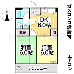 愛知県名古屋市瑞穂区彌富町字茨山の賃貸マンションの間取り