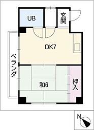 愛知県名古屋市天白区池場1丁目の賃貸マンションの間取り