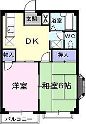 エルディム藤ニュータウン4[2階]の間取り