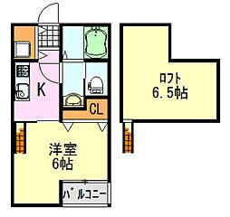 LAUREL INICIO(ローレル イニシオ)[2階]の間取り