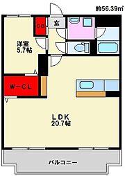 ユーミーリエゾン[B202号室]の間取り