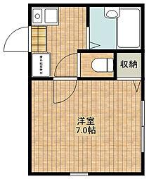神奈川県川崎市中原区上新城2丁目の賃貸アパートの間取り