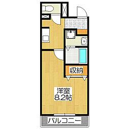 コテージタケダ[105号室]の間取り