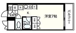 厚木アザレアビル[7階]の間取り
