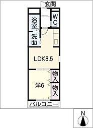 フォーブル高木[2階]の間取り