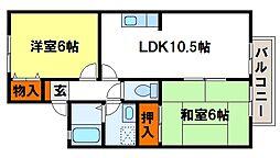 セジュール萩尾[2階]の間取り
