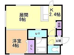 Comfort Life(コンフォート ライフ) 4階1LDKの間取り