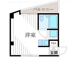東京都小金井市前原町4丁目の賃貸マンションの間取り