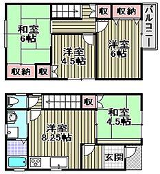 [一戸建] 大阪府和泉市和気町1丁目 の賃貸【/】の間取り