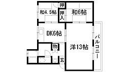 清和台住宅(公社分譲)[5階]の間取り