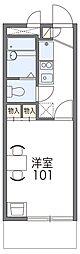 JR片町線(学研都市線) 忍ヶ丘駅 徒歩9分の賃貸マンション 3階1Kの間取り