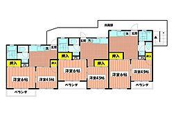 大倉山グリーンハイツ[103号室]の間取り