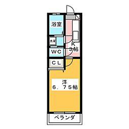 パルハイム2001B[1階]の間取り