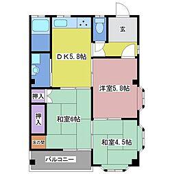 ミミハイツ弐番館[3階]の間取り