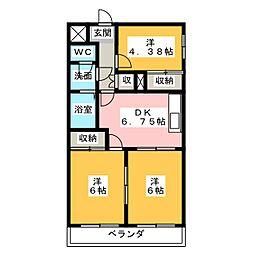 菊川サンハイツ[2階]の間取り