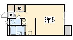 兵庫県姫路市西庄乙の賃貸アパートの間取り
