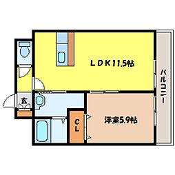 北海道札幌市中央区北五条西19丁目の賃貸マンションの間取り