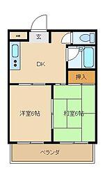 花園ニューライフマンション[3階]の間取り