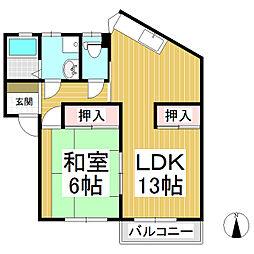 ハイツヤマオカ[1階]の間取り