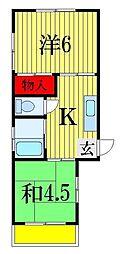 千葉県船橋市前原東2丁目の賃貸アパートの間取り